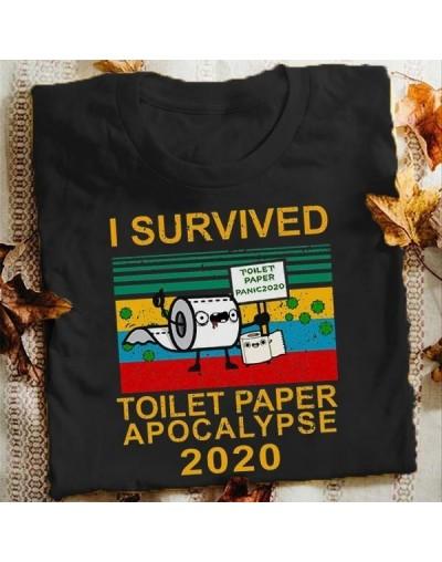 Camiseta divertida para mujer - I survived toilet paper apocalypse 2020