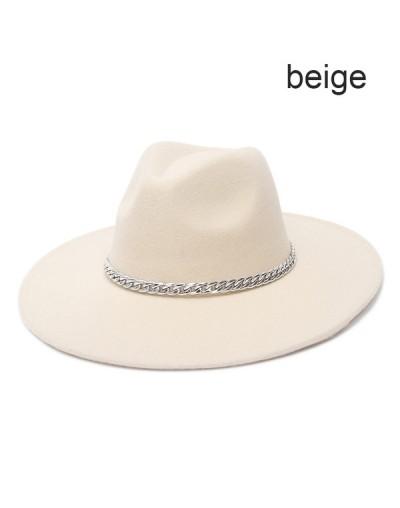 Sombrero clásico ala ancha en Beige